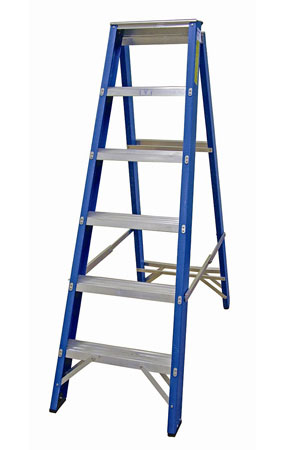 Heavy Duty Fibreglass Industrial Swingback Stepladder