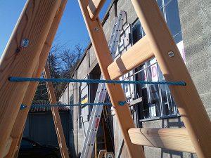 Timber Step Ladders A Frame Rope Stringer