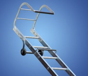 Single section trade roof ladder