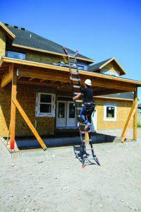 Dark Horse as extension ladder