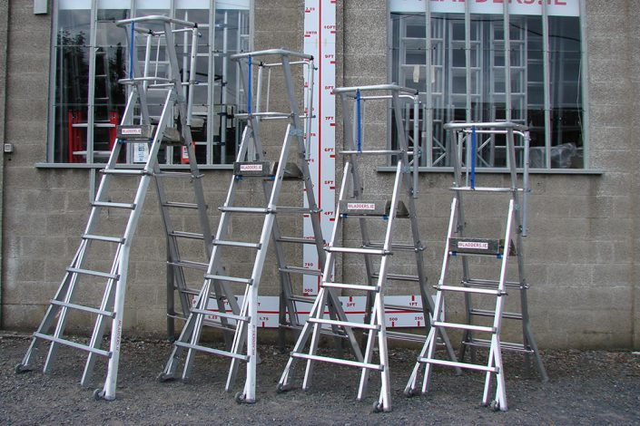 Various sized Height Adjustable Podiums in Aluminum