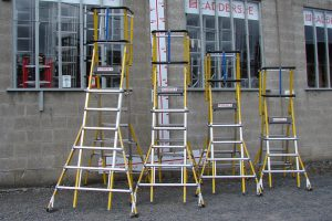 Various sized Height Adjusted Podiums in Fibreglass