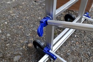 DIY Tower wheels and brace lock