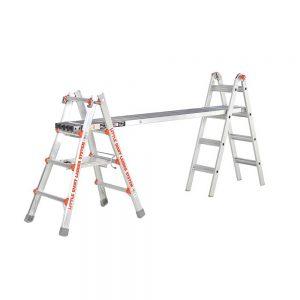 Little Giant ladder extending work plank usage