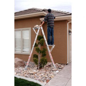 Little Giant ladder work platform usage