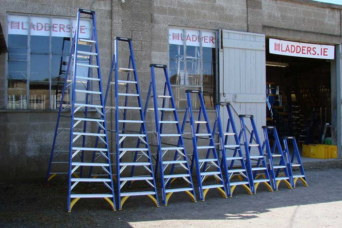 Range of Fibreglass Platform Stepladders