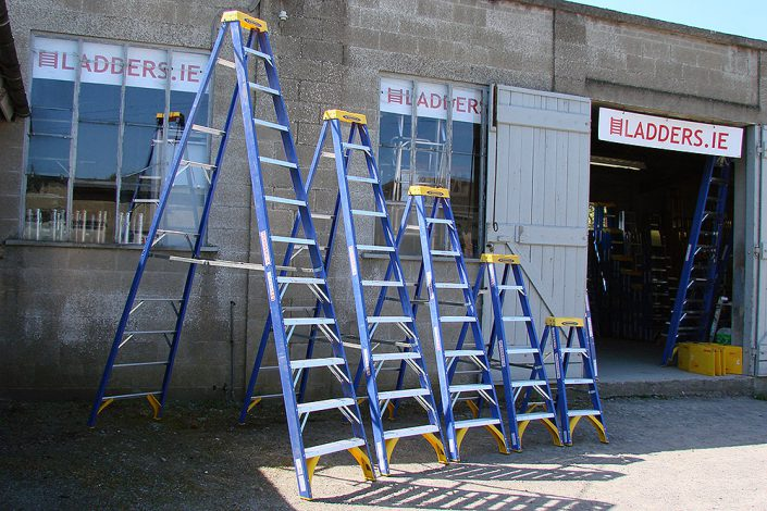 Range of Fibreglass Swingback Stepladders