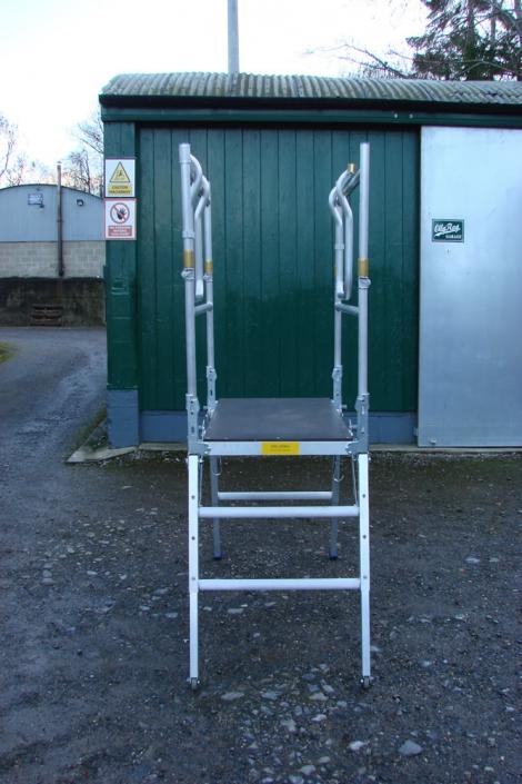 Low Level Work Platform open gates